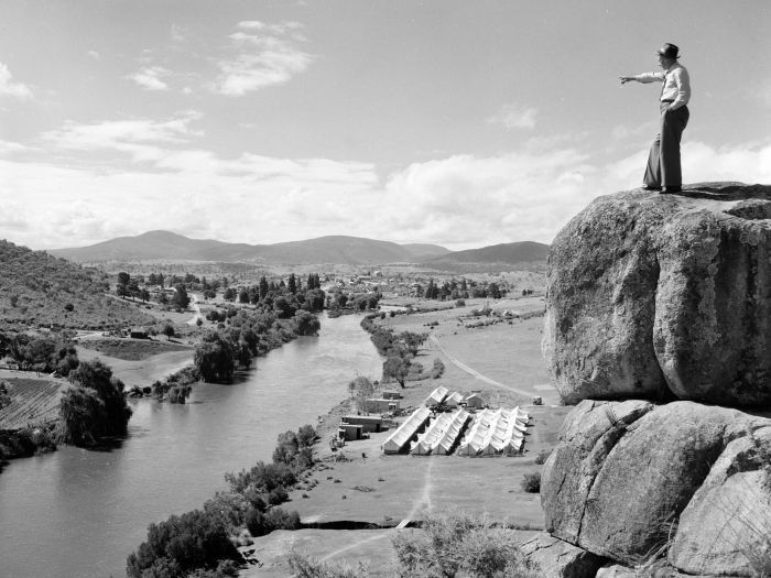 Jindabyne, Snowy River, Snowy Hydro Camp (National Archives of Aust)