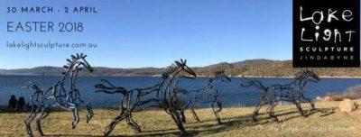 lake light sculptures jindabyne easter